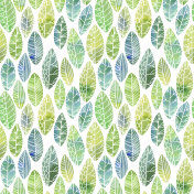 seamless pattern with decorative leaves