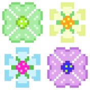 pixel art flower