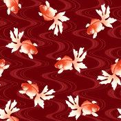 Japanese style fish pattern,