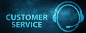 Customer service (customer care icon) special blue banner background