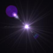 Lens Flare central purple stage light