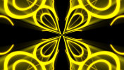 Abstract background with gold light kaleidoscope