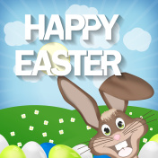 Happy Easter with Easter Bunny Creative Design