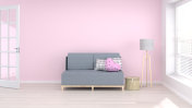 sofa in living room minimal interior background,3D rendering empty wall, interior valentines day background