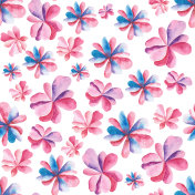 Seamless pattern of hand painted watercolor flowers.