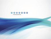 Smooth aqua wave background