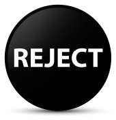 Reject black round button