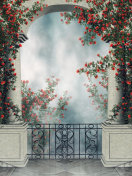 Fantasy arch with rose vines