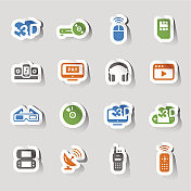Stickers - Media and Technology Icons