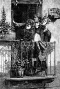 Three women on balcony