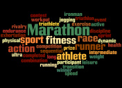 Marathon,word cloud concept 5