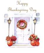 Template for Thanksgiving Day greeting card
