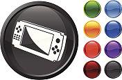 Handheld Video Game Internet royalty free vector art