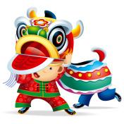 Chinese Lion Dance Boy 01