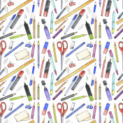 seamless pattern with art materials