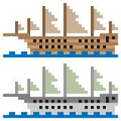 pixel art ship