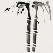 Bamboo in Chinese style. Watercolor hand painting illustration