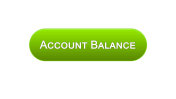 Account balance web interface button green color, online banking service, app