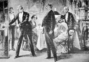 Butler shows gentleman the door from 'A Strange Elopement'