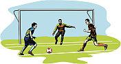 soccer, football - goalmouth action