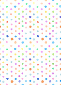Watercolor hand-painted point color seamless pattern