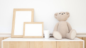 teddy bear and frame picture for artwork