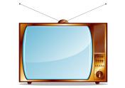 Gold retro TV