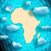 Top view of the African continent.