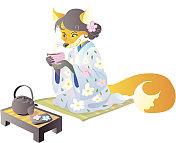 Fox and tea