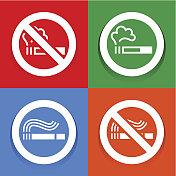 Stickers multicolored - No smoking symbol