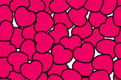 Romantic pattern for Saint Valentines day, high definition design