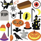Colorful Halloween Festival Theme, Design Elements (Icons)