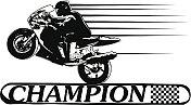 champion banner with super bike