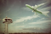 airplane in old picture