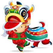 Chinese Lion Dance Boy 04