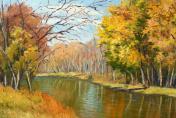 Minnesota Autumn Oil Painting