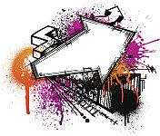 Graffiti arrow background