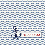 Thank you card with anchor