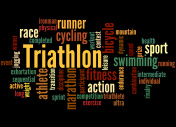 Triathlon, word cloud concept 5