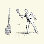 Victorian Tennis Player - Straightforward Stroke