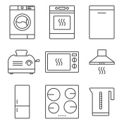 Kitchen appliance icons