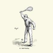 Victorian Tennis Player - A half volley