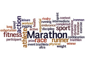 Marathon,word cloud concept 8