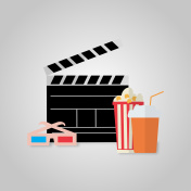 Illustration on the theme of cinema viewing
