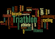 Triathlon, word cloud concept 3