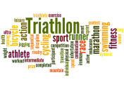 Triathlon, word cloud concept 2