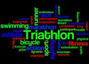 Triathlon, word cloud concept 7