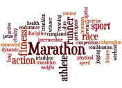Marathon,word cloud concept 3