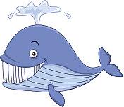 Smiling whale cartoon