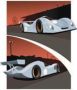 Le Mans Prototype Race Car